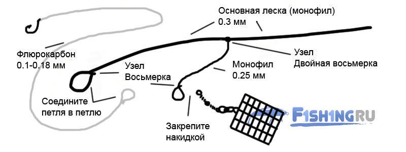 Схема фидерной оснастки Патерностер
