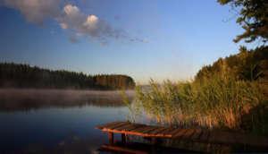 Ноябрь, озеро