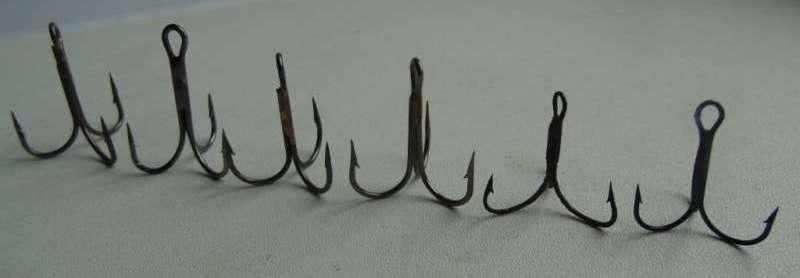 Рыболовные крючки-тройники