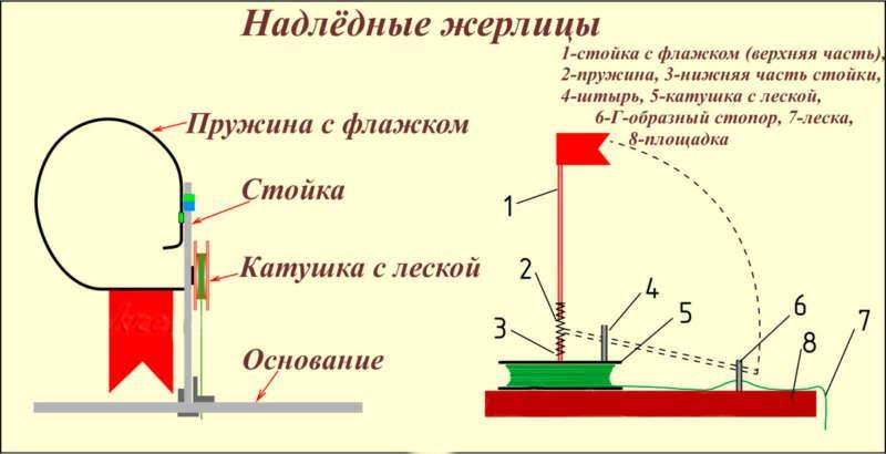 Схема устройства жерлицы