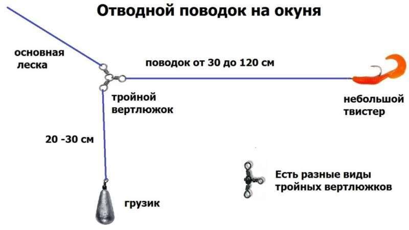 Отводной поводок на окуня