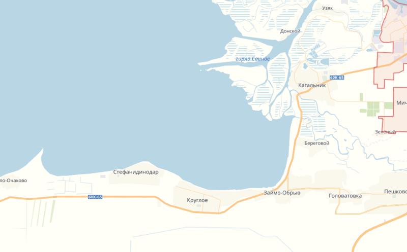 Левый берег азовской дельты