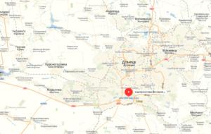 Рыбалка в Донецке карта