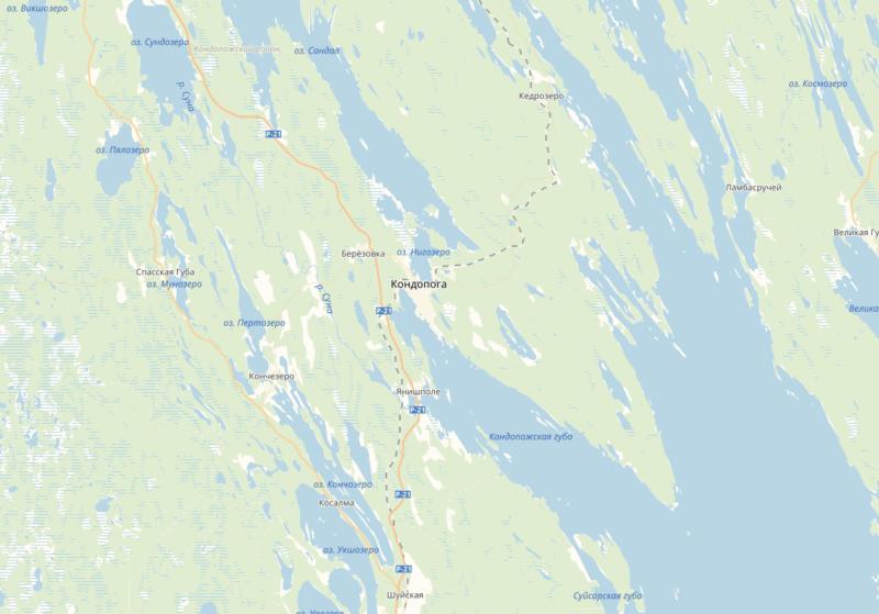 Рыбалка в Карелии карта Кондопожская губа