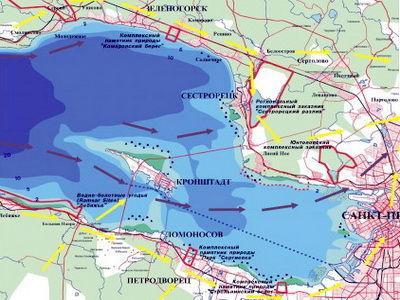 Глубина финского залива