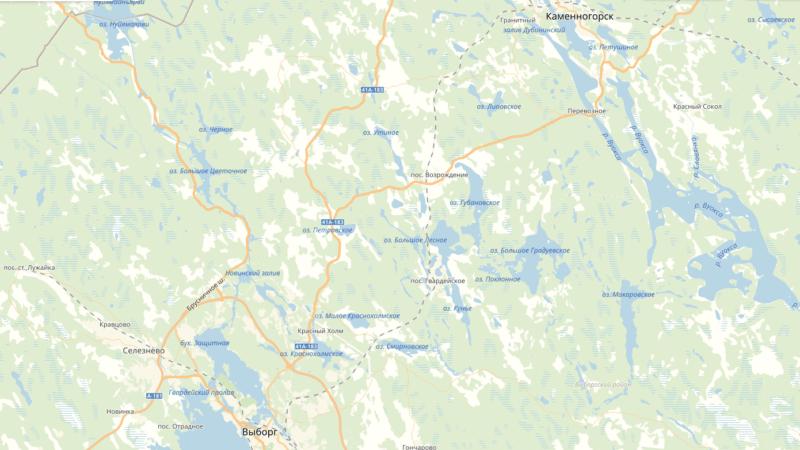 Карта рыбалки Ленинградской области