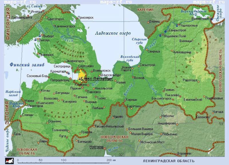 Карта Ленобласти