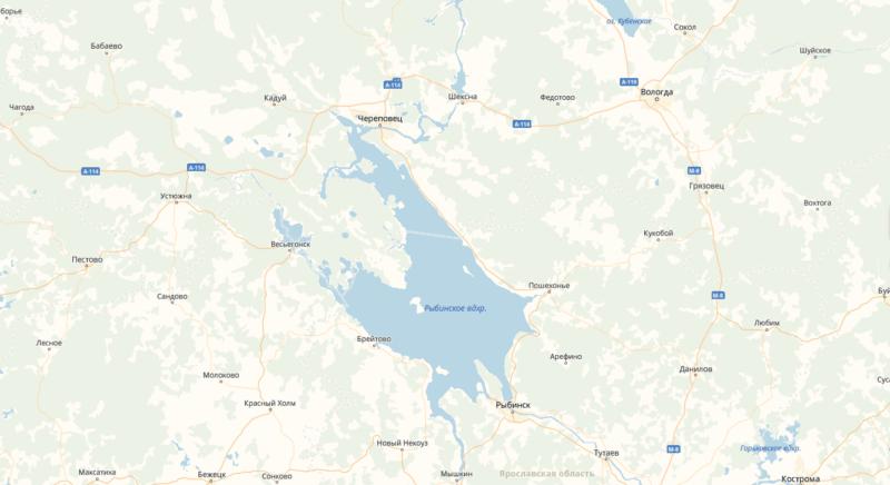 Рыбинское водохранилище карта, где находится