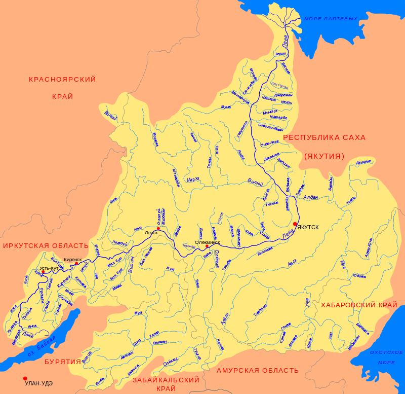 Реки якутии Республики Саха