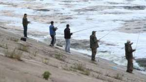 Рыбалка с берега Волги