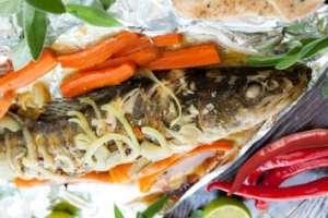 Сиг, приготовление в духовке: рецепт с лимонами и сервировка морковью
