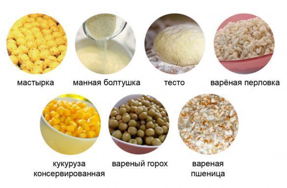 Ингредиенты для прикормки на леща летом