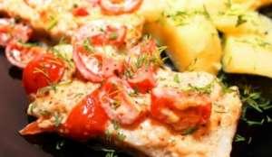 Пангасиус с картофелем и помидорами - рецепт