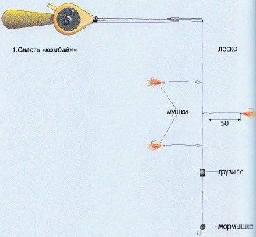 схема мормышка с тремя поводками фото