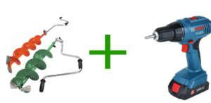 шуруповерт для ледоруба, как выбрать редуктор, шнек, адаптер