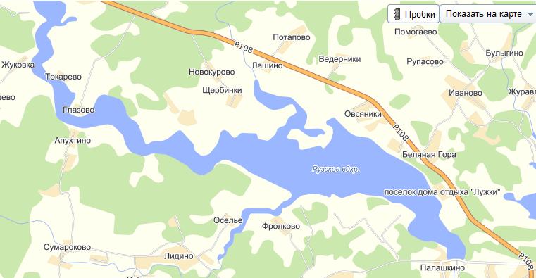 Прогноз клева в Подмосковье Рузское водохранилище