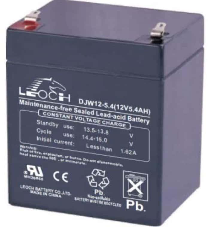 Leoch DJW12-5.4 – самый компактный аккумулятор для эхолота